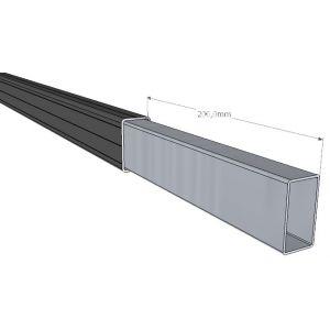Einsteckverbinder zum Verlängern der Alu Unterkonstruktion 29x49 mm