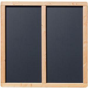 "HPL / Douglasie Sichtschutzzaun ""Kreta"" in Douglasie-Anthrazit ca. 180x180 cm"