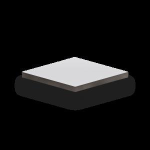 HPL-Platte Handmuster in weiß