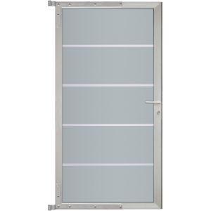 "HPL Zauntor ""Toulouse"" in grau/silber ca. 90x180 cm"